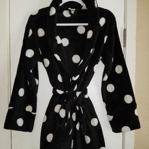 Vs PINK Black Polka Dot Robe